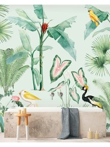 Creative Lab Amsterdam Pelican bathroom Wallpaper
