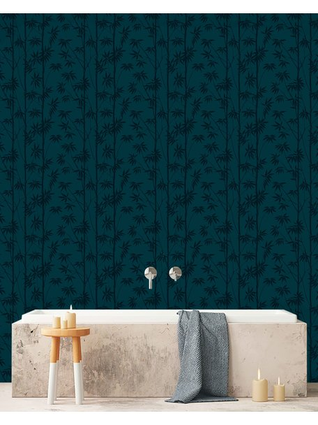 Bamboo Blue Behang