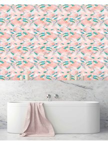 Creative Lab Amsterdam Fishes Badkamer Behang Pink