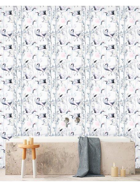 Creative Lab Amsterdam Crane White Bathroom Wallpaper
