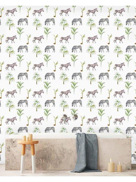 Zebra Palm Wallpaper