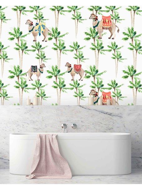 Creative Lab Amsterdam Camel Palm Light Bathroom Wallpaper