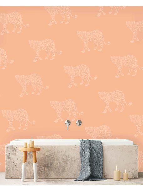 Creative Lab Amsterdam Panther Bathroom Wallpaper Pink