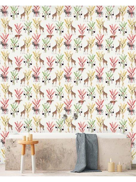 Creative Lab Amsterdam Color Palm Bathroom Wallpaper