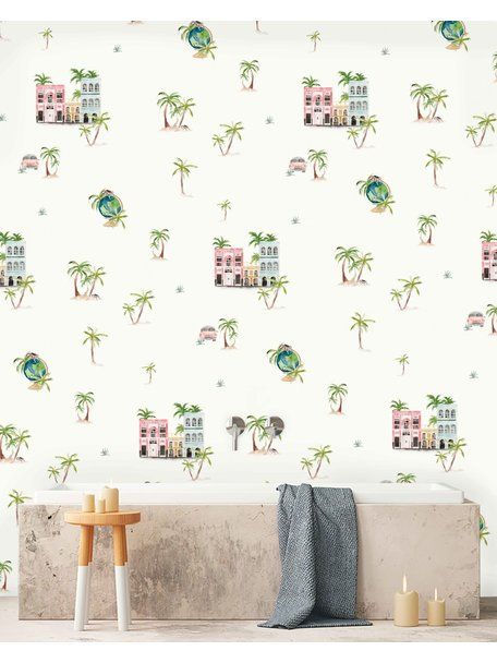 Creative Lab Amsterdam Cuba Bathroom Wallpaper