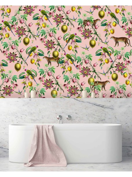 Creative Lab Amsterdam Botanical Garden Pink Badkamer Behang