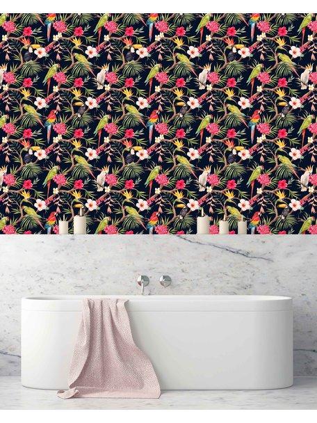 Creative Lab Amsterdam Tucan Dark Blue Bathroom wallpaper