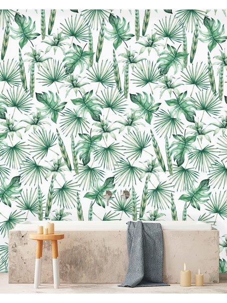 Creative Lab Amsterdam Jungle Leaves Bathroom Wallpaper