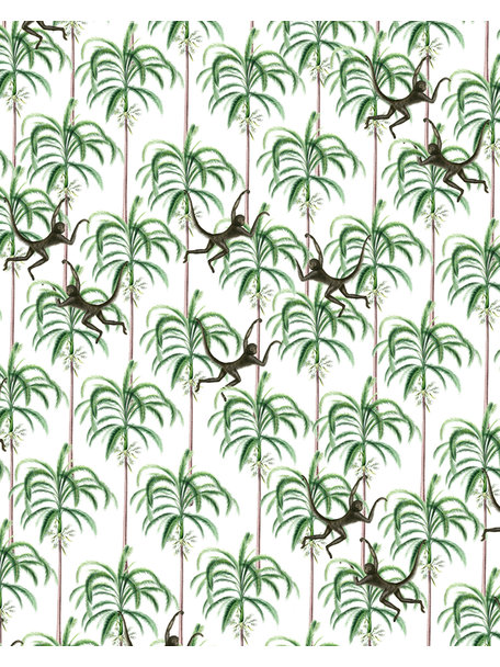 Creative Lab Amsterdam Swinging Monkeys Bathroom Wallpaper
