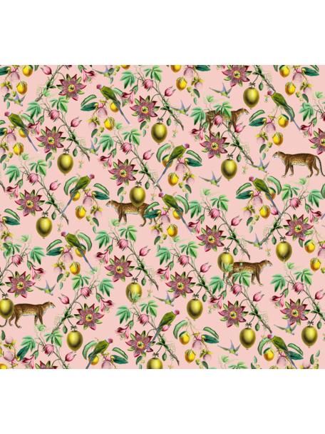 Creative Lab Amsterdam Botanical Garden Pink Bathroom Wallpaper