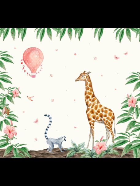 Creative Lab Amsterdam Giraffe Bathroom Wallpaper setting