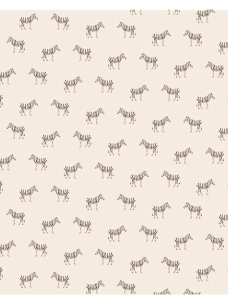 Creative Lab Amsterdam Safari Zebra Bathroom Wallpaper