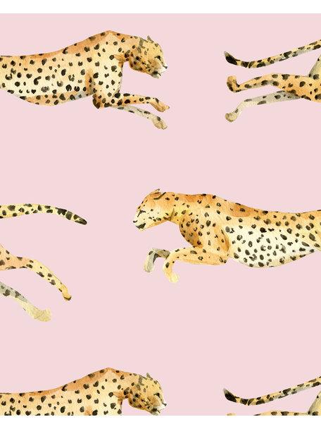 Creative Lab Amsterdam Leopard Badkamer Behang Pink
