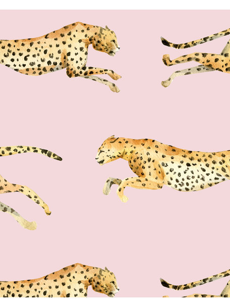 Creative Lab Amsterdam Leopard Bathroom Wallpaper Pink
