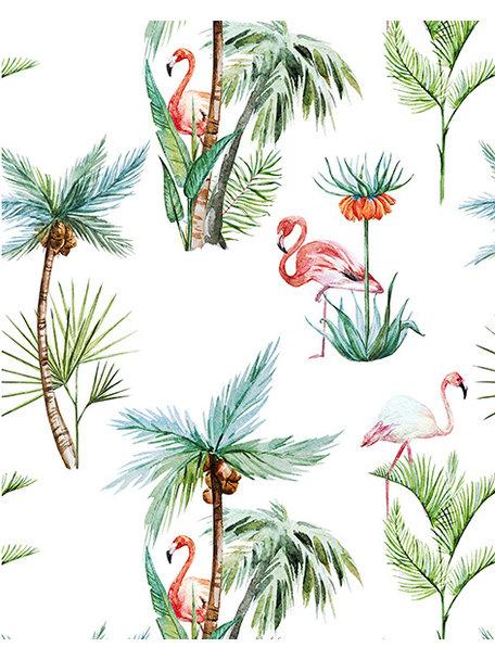Creative Lab Amsterdam Flamingo Palm Wallpaper