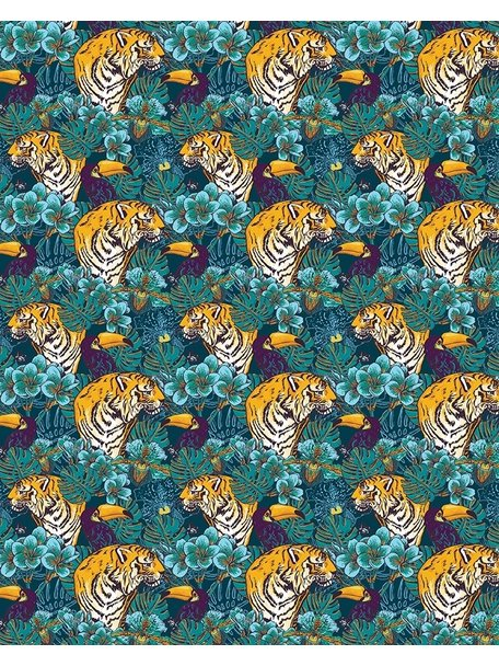 Creative Lab Amsterdam Tiger Jungle Badkamer Behang
