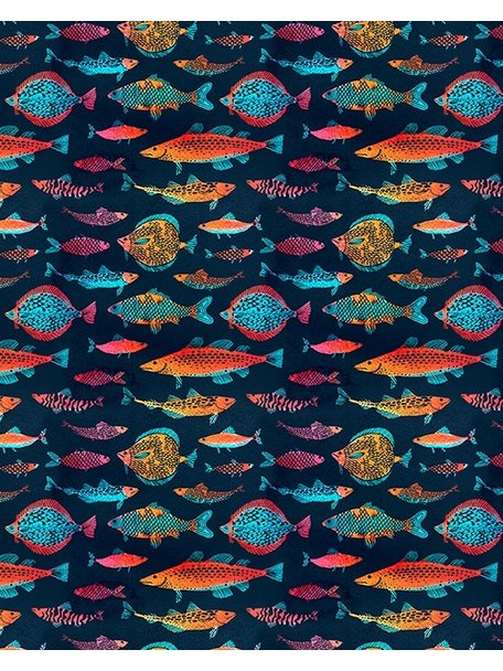 Creative Lab Amsterdam Night Fishes Badkamer Behang