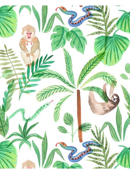 Jungle Monkeys Bathroom Wallpaper