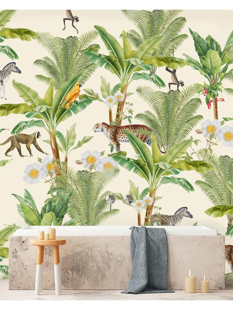Creative Lab Amsterdam Chantal Bles - Flower Garden Badkamer Behang