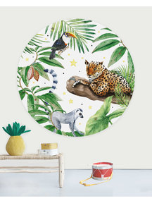 Creative Lab Amsterdam Jungle Tiger Wallpaper Circle