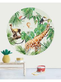 Creative Lab Amsterdam Monkey Jungle Wallpaper Circle