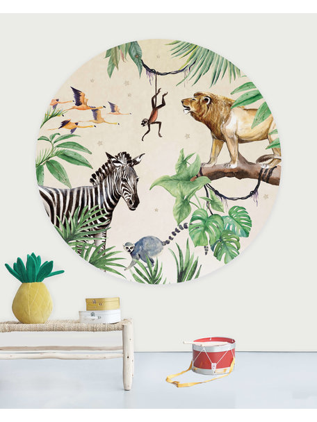 Creative Lab Amsterdam King of the Jungle Wallpaper Circle