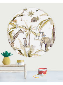 Creative Lab Amsterdam African Safari Sunset Wallpaper Circle