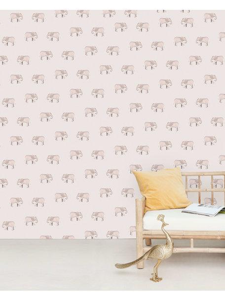 Safari Elephants Behang