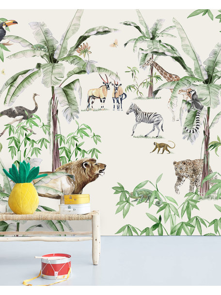 Creative Lab Amsterdam Just Another day in the Jungle Behang Mural