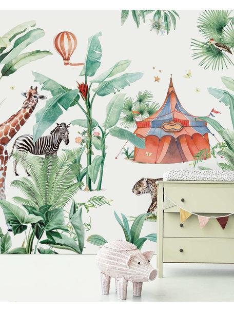 Creative Lab Amsterdam Jungle Circus Behang Mural