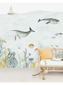 Creative Lab Amsterdam Sealife Blue Behang Mural