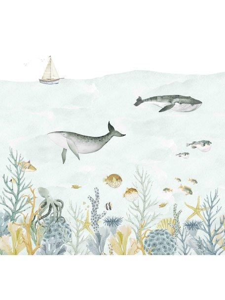 Creative Lab Amsterdam Sealife Blue Behang Mural