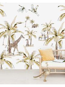 Creative Lab Amsterdam African Safari Sunset Wallpaper Mural