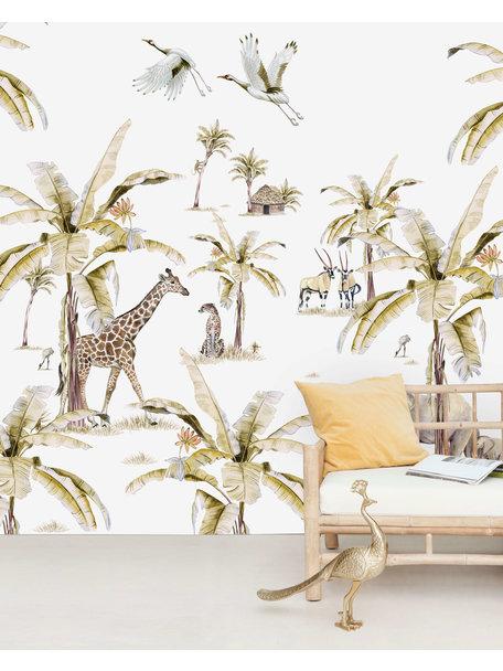 African Safari Sunset Behang