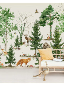 Creative Lab Amsterdam Forest Life Behang Mural