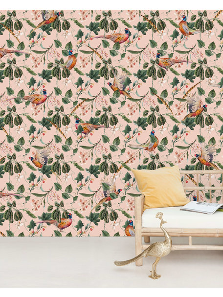Creative Lab Amsterdam Floral Pheasant Behang Mural