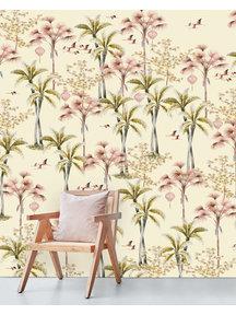 Creative Lab Amsterdam Oriental Flamingo Flight Behang Mural