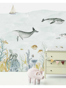 Creative Lab Amsterdam Sealife Blue Wallpaper