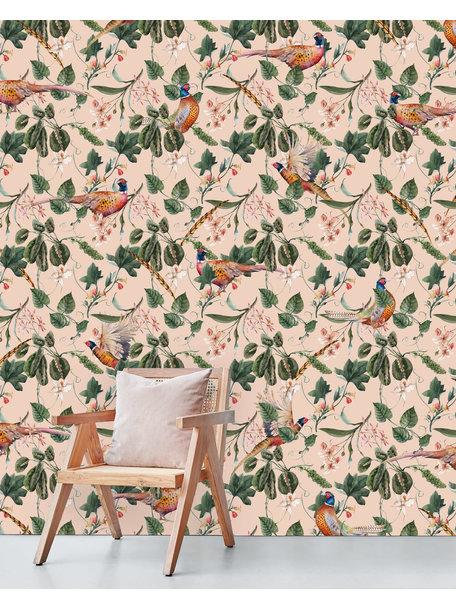 Floral Pheasant Behang
