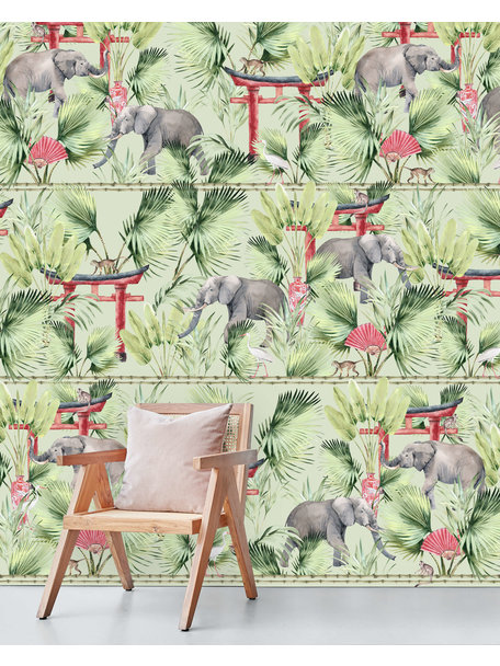 Ritual Elephant Behang