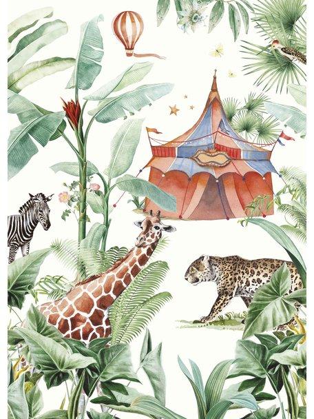 Creative Lab Amsterdam Jungle Circus Badkamer Behang
