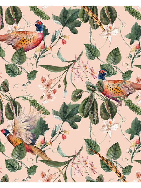Creative Lab Amsterdam Floral Pheasant Badkamer Behang