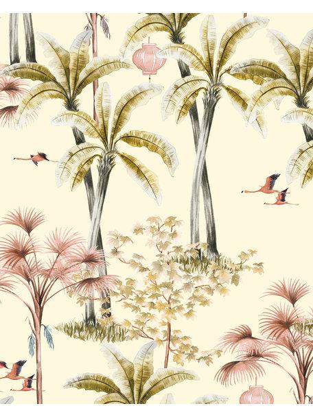 Creative Lab Amsterdam Oriental Flamingo Flight Badkamer Behang
