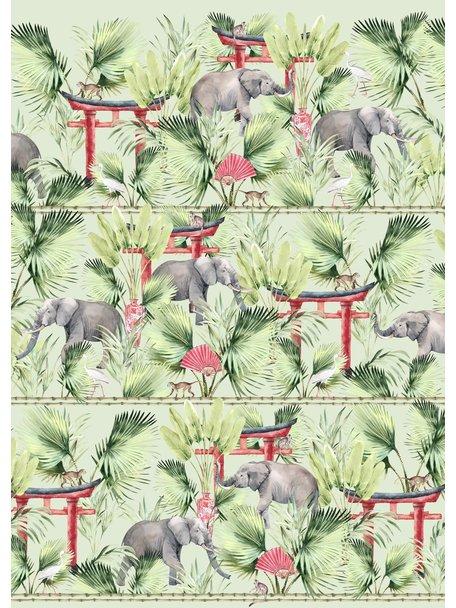 Creative Lab Amsterdam Ritual Elephant Bathroom Wallpaper