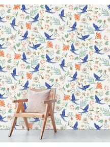 Paisley Parrot Behang