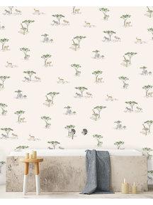 Creative Lab Amsterdam Savanna Bathroom Wallpaper