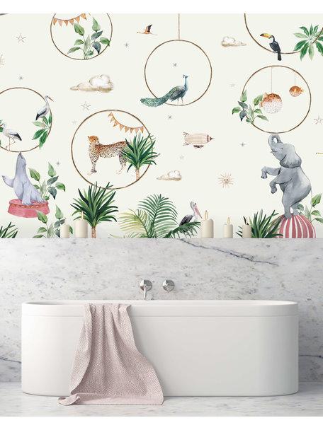 Creative Lab Amsterdam Hula Hoop Bathroom Wallpaper