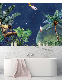 Creative Lab Amsterdam From Jungle to Space Badkamer Behang