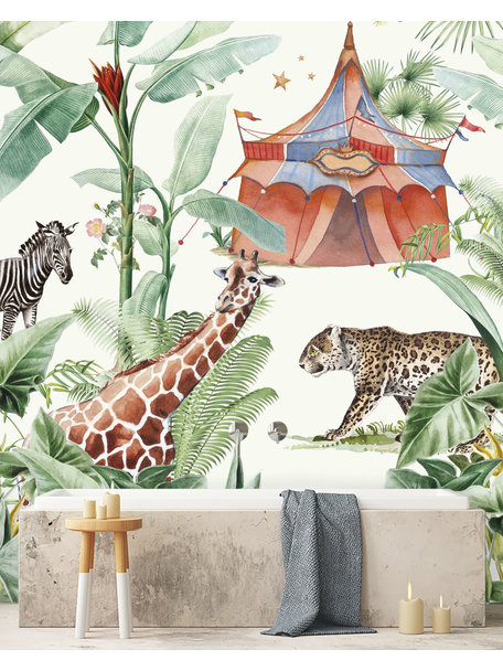 Creative Lab Amsterdam Jungle Circus Bathroom Wallpaper