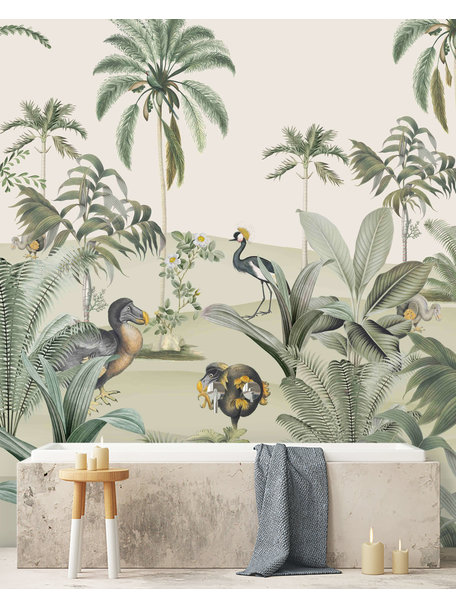 Creative Lab Amsterdam Dodo Oasis Bathroom Wallpaper